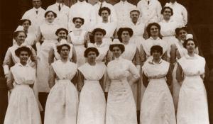 Graduates of an Inglis nursing program during the 1920s